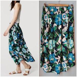 LOFT Jungle Floral Print Maxi Skirt NWT SP